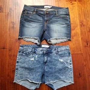 Lot of 2 Torrid Denim Jean Shorts Sz 18 Plus